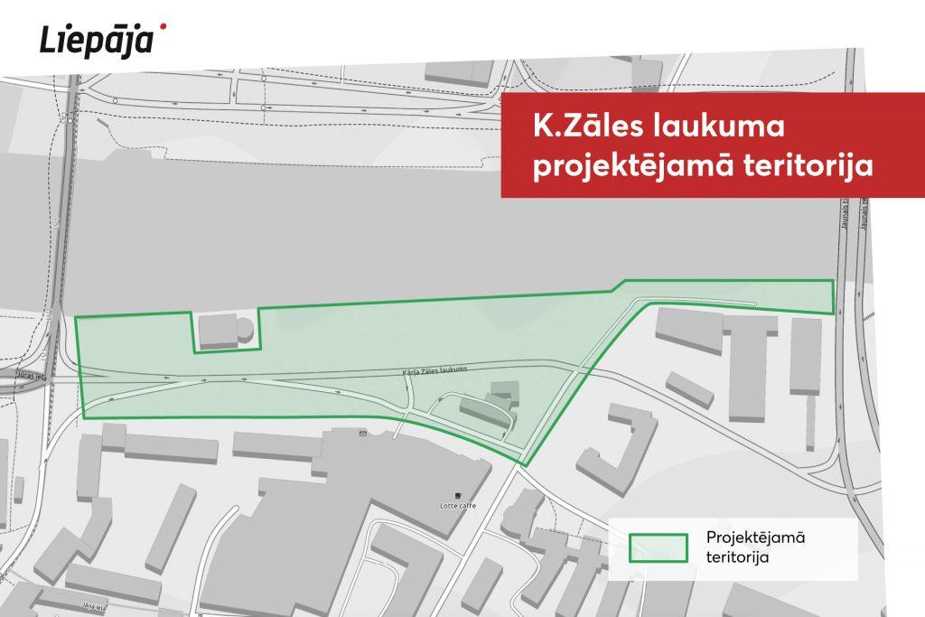 VIzualizācija Kārļa Zāles laukuma rekonstrukcijas projekta teritorija