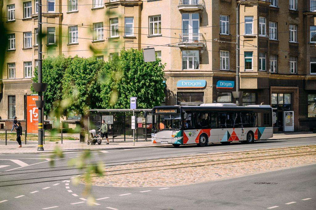 Sabiedriskais transports Liepājas ielās
