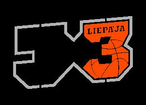 Liepājas basketbola sacensību logo ar uzrakstu 3 x 3